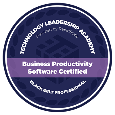 Business Productivity Software Certified